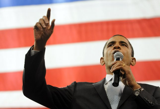 Democratic presidential candidate Sen. Barack Obama (D-IL) speaks to supporters during a campaign rally at the Fort Worth Convention Center in Fort Worth, Texas February 28, 2008. More than 11,000 people attended the event, his third of the day. Obama and Sen. Hillary Clinton (D-NY) are locked in a tight race headed into the Texas primary election on March 4, 2008. (UPI Photo/Ian Halperin)