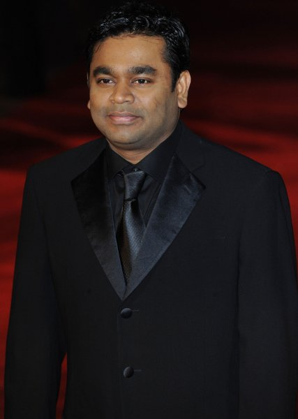 Indian film composer A.R. Rahman attends the premiere of 127 Hours at Odeon, Leicester Square in London on October 28, 2010. UPI/Rune Hellestad