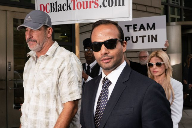 Trump campaign adviser George Papadopoulos was sentenced to 14 days in jail for lying to the FBI in special counsel Robert Mueller's probe into alleged Russian election meddling. File Photo by Ken Cedeno/UPI