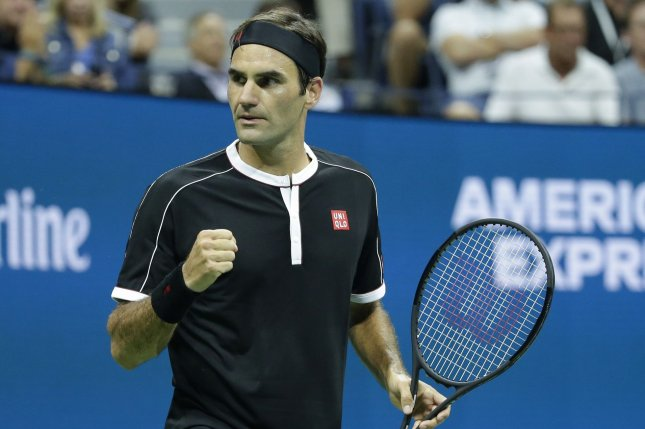 Roger Federer of Switzerland urged others to donate money toward coronavirus relief efforts after pledging $1.02 million to fight the coronavirus on Wednesday. File Photo by John Angelillo/UPI