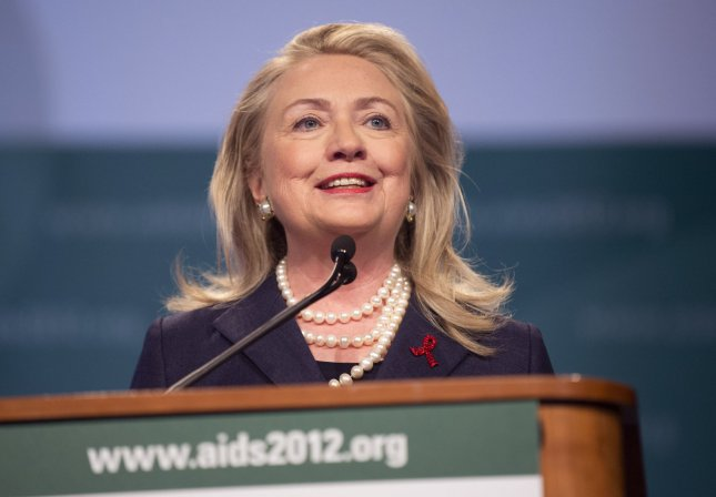 U.S. Secretary of State Hillary Clinton, pictured at an AIDS conference in Washington July 23, 2012. UPI/Kevin Dietsch