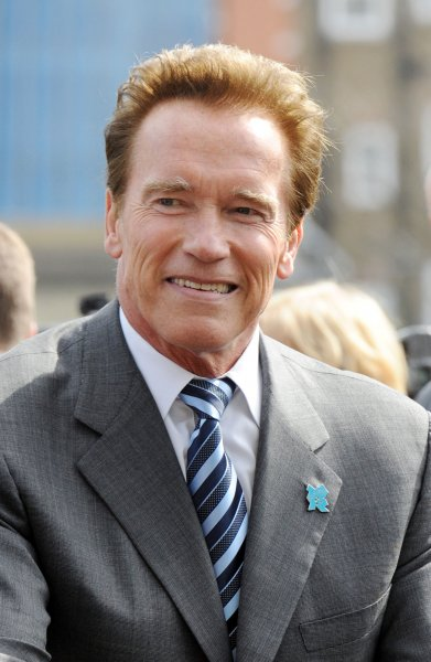 Austrian- American actor/politician Arnold Schwarzenegger attends a photo call for Barclay's Cycle Hire Scheme at City Hall in London on March 31, 2011. UPI/Rune Hellestad