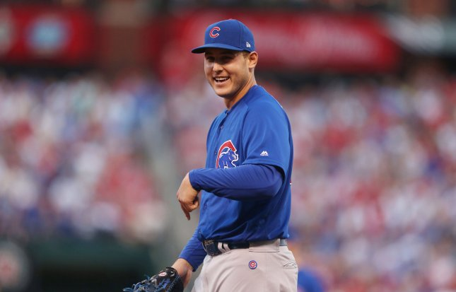 Anthony Rizzo and the Chicago Cubs take on the Pittsburgh Pirates on Friday. Photo by Bill Greenblatt/UPI