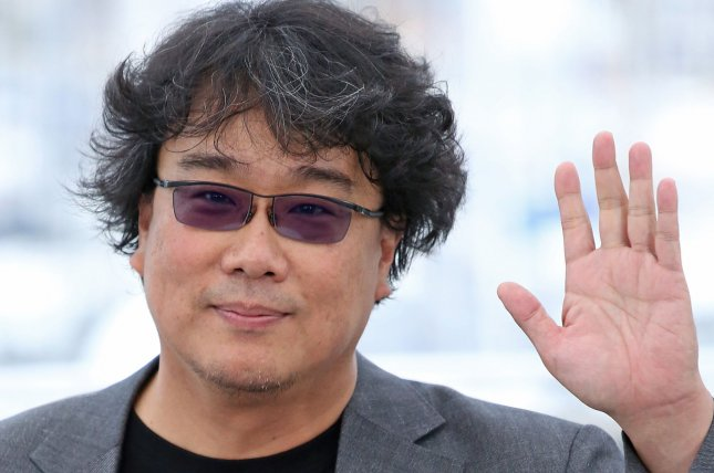 Director Bong Joon-ho arrives at a photocall for the film Parasite during the 72nd annual Cannes International Film Festival in France on Wednesday.Photo by David Silpa/UPI