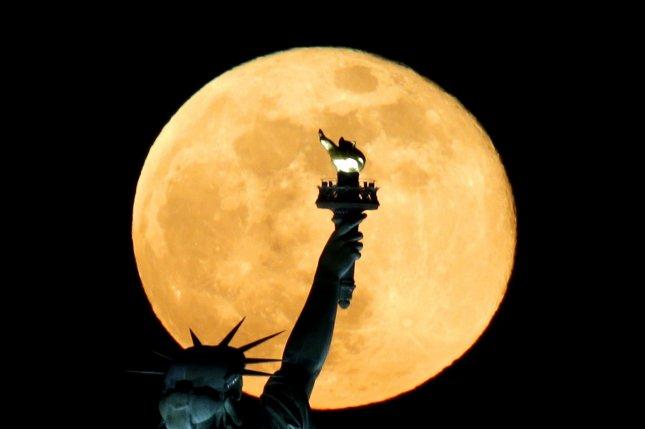 The U.N.'s Moon Treaty declares the moon the common heritage of mankind. Photo by John Angelillo/UPI