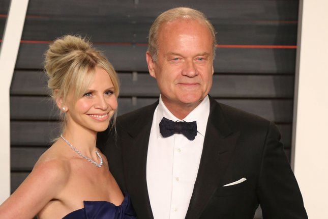 Frasier star Kelsey Grammer (R) and his wife Kayte Walsh attend the 2016 Vanity Fair Oscar Party on February 2016. A Frasier revival is under consideration at Paramount+. File Photo by David Silpa/UPI