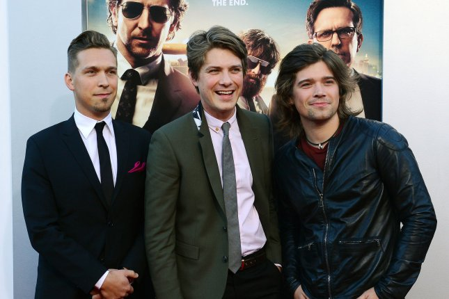 Isaac Hanson, Taylor Hanson and Zac Hanson (L-R) of Hanson attend the Los Angeles premiere of The Hangover: Part III on May 20, 2013. File Photo by Jim Ruymen/UPI