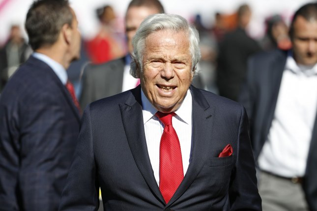 New England Patriots owner Robert Kraft requested a non-jury trial. File Photo by Kamil Krzaczynski/UPI