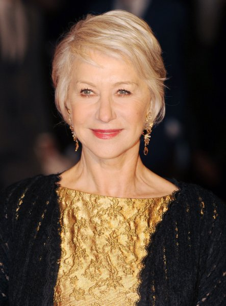 British actress Helen Mirren attends the European premiere of Brighton Rock at Odeon West End, Leicester Square in London on February 1, 2011. UPI/Rune Hellestad