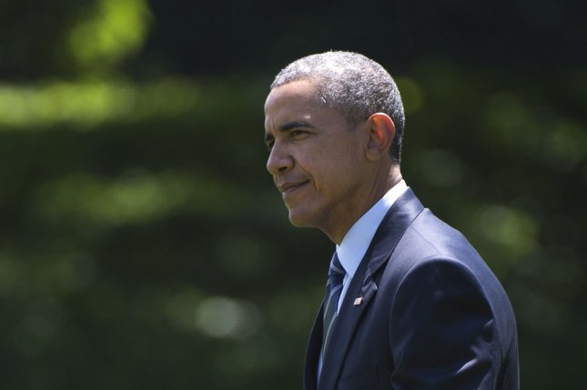 President Barack Obama departs the White House in Washington, D.C. on Tuesday. Obama was on his way to Philadelphia to speak to the NAACP National Conference, where he called for sweeping reforms to the criminal justice system. Photo by Kevin Dietsch/UPI