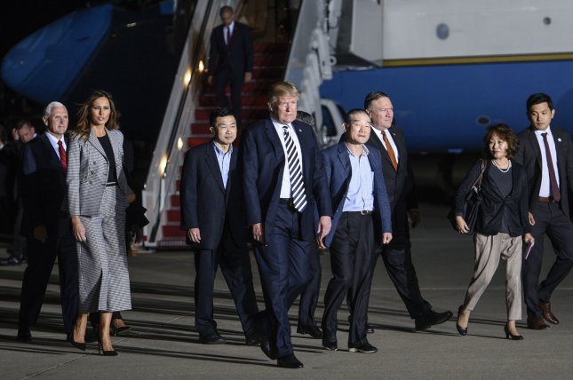 Two-thirds of Republicans surveyed by CBS News say President Donald Trump's North Korea policy is working. Photo by Leigh Vogel/UPI