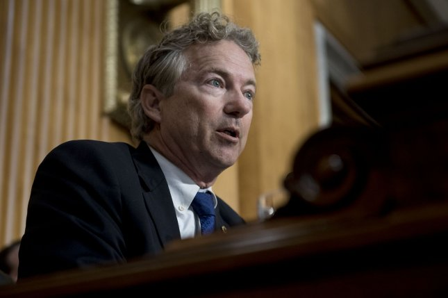 Sen. Rand Paul, R-Ky., said Monday he will support Judge Brett Kavanaugh's confirmation to the Supreme Court, making Democrats' plan to block his appointment more difficult. File photo by Leigh Vogel/UPI