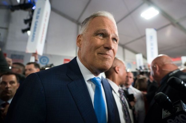Gov. Jay Inslee, D-Wash., accused President Donald Trump of not doing enough to call out white nationalist violence. Photo by Kevin Dietsch/UPI