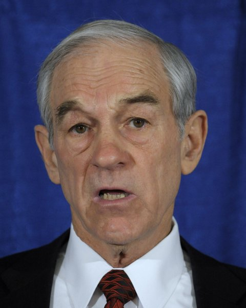 File photo of Former Republican U.S. presidential candidate Ron Paul dated January 22, 2008. (UPI Photo/Roger L. Wollenberg)