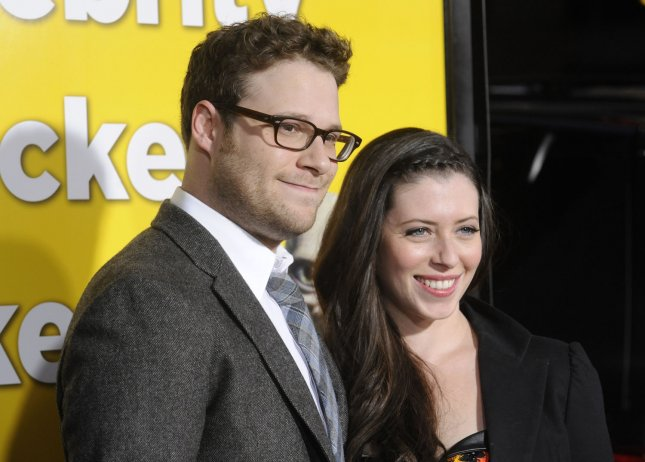 Newlyweds Seth Rogen and Lauren Miller, as seen on March 14, 2011. UPI/Phil McCarten