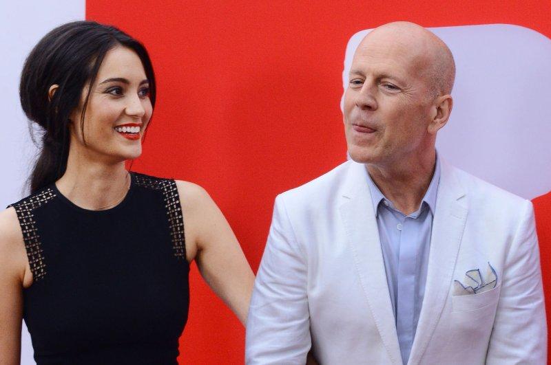 Bruce Willis and hiw wife, Emma Heming-Willis. UPI/Jim Ruymen