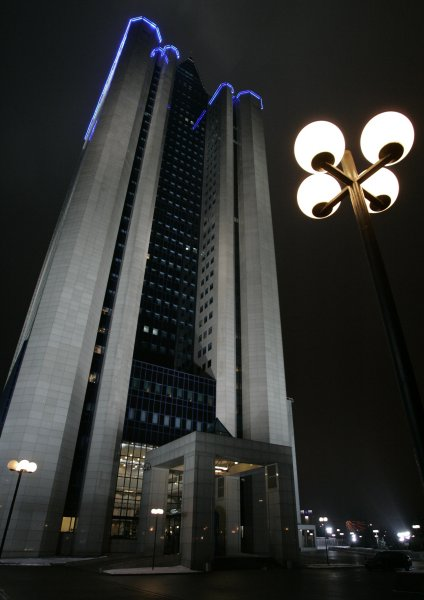 A view of the Gazprom headquarters building in Moscow on December 31, 2006. (UPI Photo/Anatoli Zhdanov)
