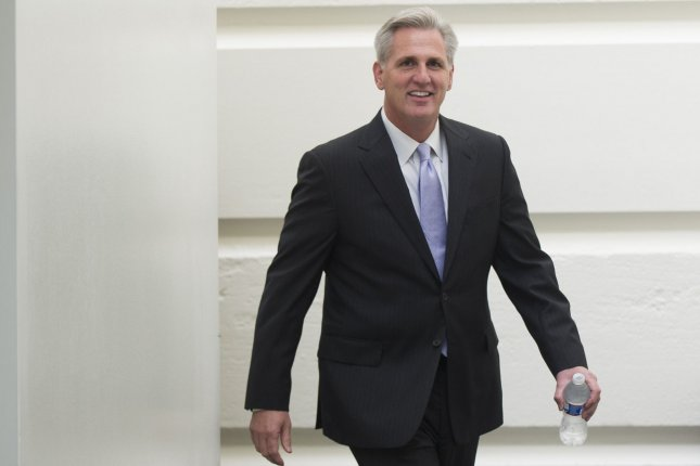 Kevin McCarthy, R-CA, was elected House majority leader on June 19, 2014. UPI/Kevin Dietsch