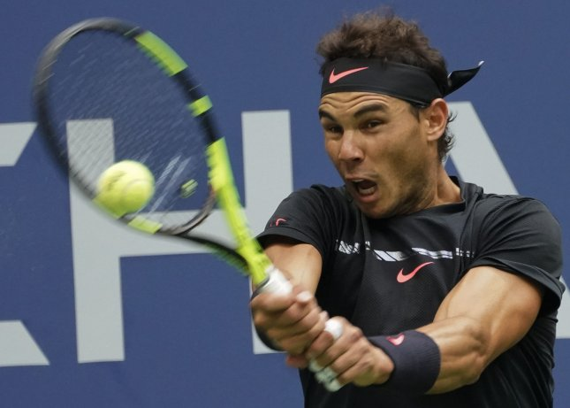 Rafael Nadal easily advanced to the quarterfinals of the China Open in Beijing. Photo by Ray Stubblebine/UPI