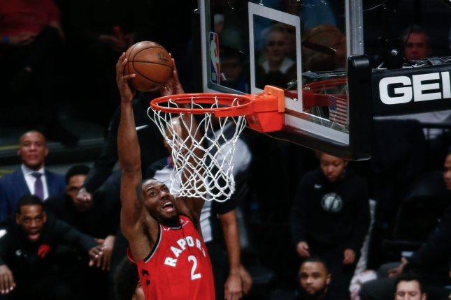 Kawhi Leonard averaged 26.6 points and 7.3 rebounds in his lone season with the Toronto Raptors. File Photo by Nicole Sweet/UPI