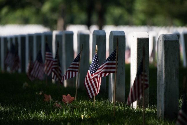 Graves are seen at Arlington National Cemetery on Memorial Day in Arlington, Va., on May 27. A Pentagon report showed that there were 541 suicides among activeduty, reserve and National Guard service members in 2018. File Photo by Kevin Dietsch/UPI