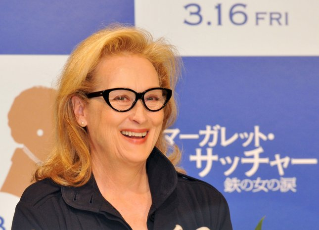 Actress Meryl Streep attends a press conference for the film The Iron Lady in Tokyo, Japan, on March 7, 2012. This film will open March 16 in Japan. UPI/Keizo Mori