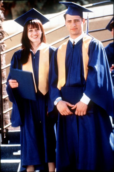 U.S. 25-year-olds without high school diploma die nine years earlier. High school graduation 1993: The Walsh twins: Brenda played by Shannen Doherty, L) and Brandon played by Jason Priestly survived their first few years in a new ZIP code on Beverly Hills, 90210. cc/ho UPI