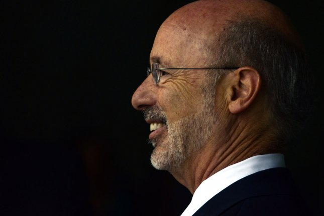Pennsylvania Gov. Tom Wolf, signed a bill Sunday making his state the 24th in the country to legalize medical marijuana use. The bill was passed in a bi-partisan effort and goes into effect next month. UPI/Archie Carpenter