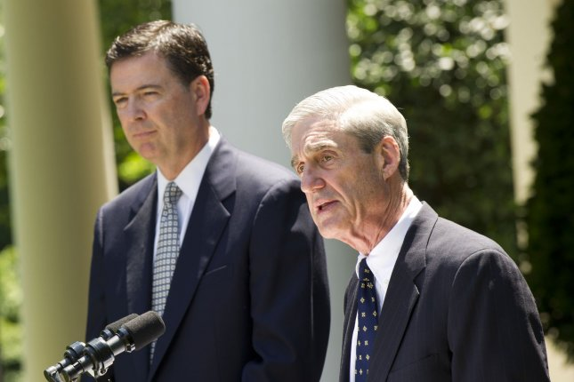 The House passed a resolution Thursday demanding documents from Special Counsel Robert Mueller (R) on the Russia investigation, as well as the FBI's investigation into the Hillary Clinton email scandal, which was headed by former bureau chief James Comey. File Photo by Kevin Dietsch/UPI