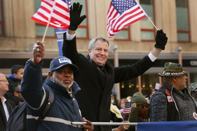 New York City Mayor Bill de Blasio announced his candidacy for the 2020 Democratic presidential nomination. File Photo by Monika Graff/UPI