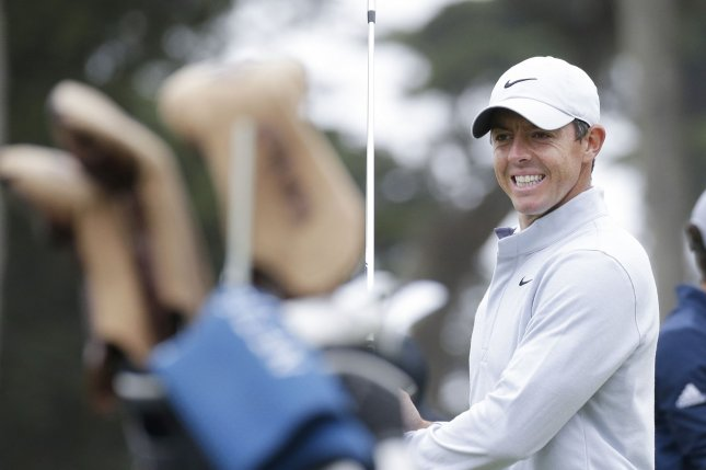 Rory McIlroy (pictured) ended the day at 1-under 139 to share the 36-hole lead with Patrick Cantlay. File Photo by John Angelillo/UPI