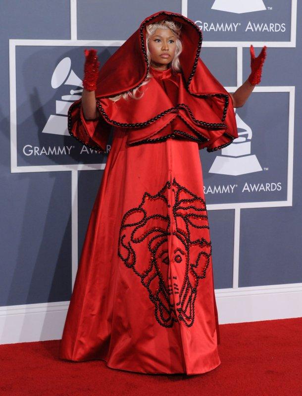 Singer Nicki Minaj arrives at the 54th annual Grammy Awards at Staples Center in Los Angeles on February 12, 2012. UPI/Jim Ruymen