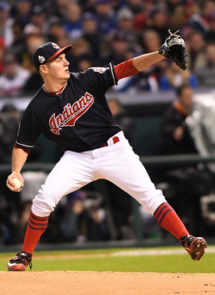 Trevor Bauer and the Cleveland Indians blanked the Kansas City Royals on Saturday. Photo by Kyle Lanzer/UPI