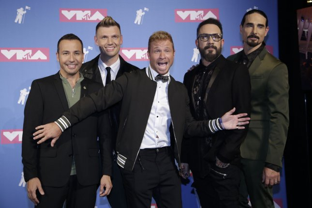 The Backstreet Boys appeared on The Tonight Show and dressed as chickens to become the Bawkstreet Boys with Jimmy Fallon. File Photo by Serena Xu-Ning/UPI
