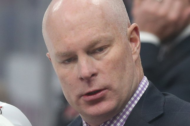 New Jersey Devils head coach John Hynes was fired after a 9-13-4 start to this season. The Devils have the fourth-worst record over the last two seasons. File Photo by Bill Greenblatt/UPI
