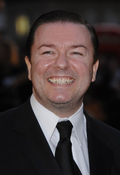 British comedian/actor Ricky Gervais attends the premiere of Stardust at Odeon, Leicester Square in London on October 3, 2007. (UPI Photo/Rune Hellestad)