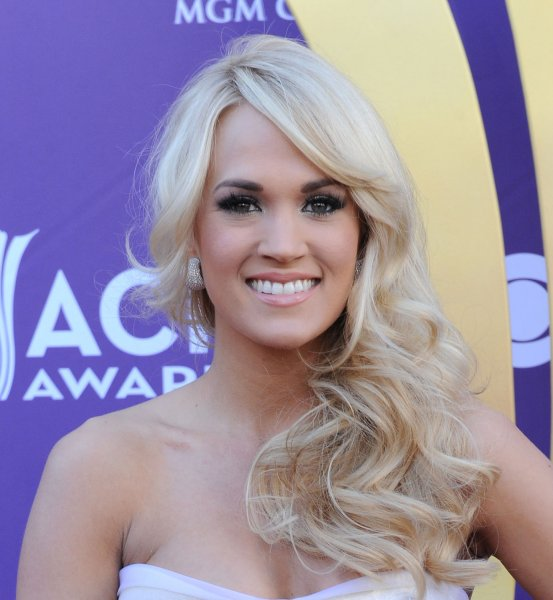 Singer Carrie Underwood arrives at the 47th annual Academy of Country Music Awards at the MGM Hotel in Las Vegas, Nevada on April 1, 2012. UPI/Jim Ruymen