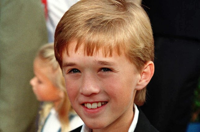 The Sixth Sense star Haley Joel Osment, pictured here in 1999, was spotted looking grown up and very different on the set of Kevin Smith's new film Yoga Hosers. ss/Sinartus Sosrodjojo UPI