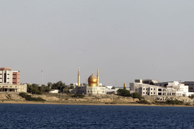 A Shiite mosque is seen in the Sunni majority port of Chabahar, Iran on the shore of the Sea of Oman. File Photo by UPI/Maryam Rahmanian.