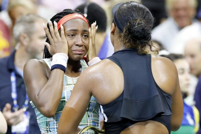 Coco Gauff (L) jumped from No. 313 to No. 141 after her magical run at Wimbledon. She is expected to jump in the WTA rankings once again after reaching the third round at the 2019 U.S. Open, where she fell to No. 1 Naomi Osaka (R). Photo by John Angelillo/UPI