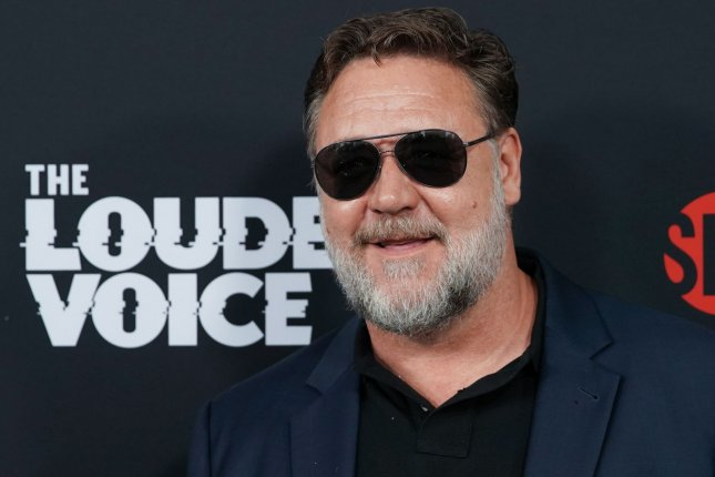 Russell Crowe arrives on the red carpet at The Loudest Voice premiere at Paris Theatre on June 24 in New York City. The actor turns 56 on April 7. File Photo by John Angelillo/UPI