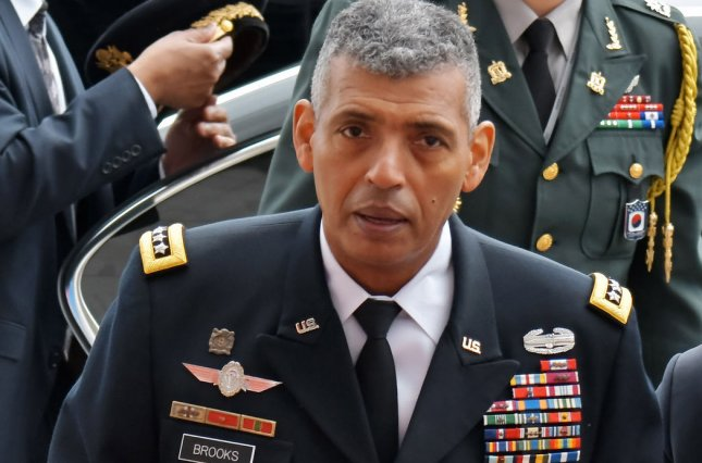 U.S. Gen. Vincent Brooks, former commander of U.S. Forces Korea and the Combined Forces Command, addressed the issue of North Korea in Seoul on Thursday. File Photo by Keizo Mori/UPI