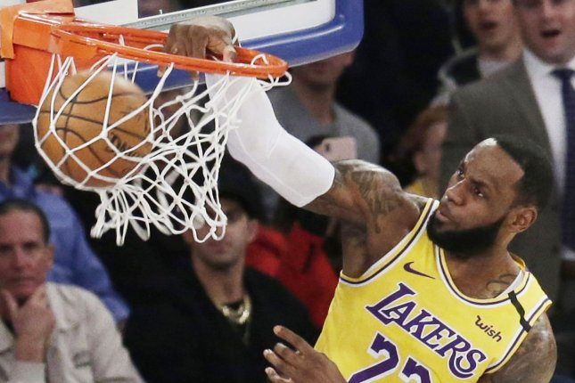 LeBron James and the Los Angeles Lakers are scheduled to begin their title defense in late December, the NBA announced. File Photo by John Angelillo/UPI