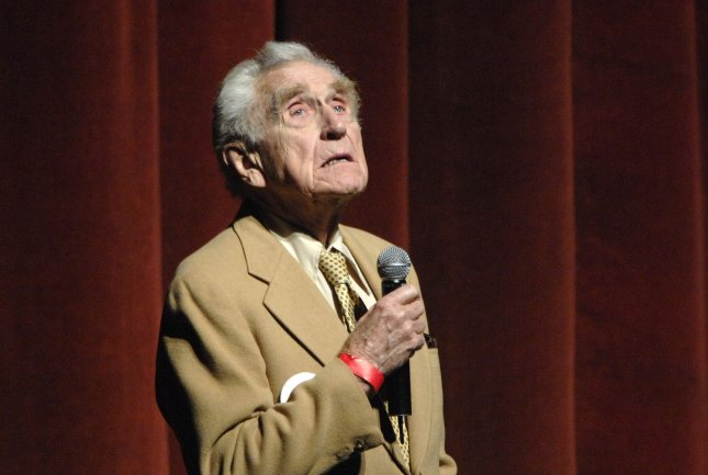 Actor James Whitmore speaks at a fundraising concert for Democratic presidential candidate Sen. Barack Obama, D-Ill., in Los Angeles on December 10, 2007. (UPI Photo/ Phil McCarten)