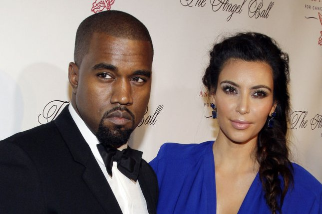 Kim Kardashian and Kanye West arrive on the red carpet at the Gabrielle's Angel Foundation Angel Ball 2012 at Cipriani on Wall Street in New York City on October 22, 2012. UPI/John Angelillo