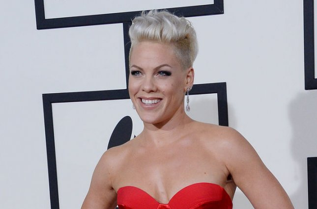 Pink at the Grammy Awards on January 26, 2014. The singer released a new single Thursday. File Photo by Jim Ruymen/UPI