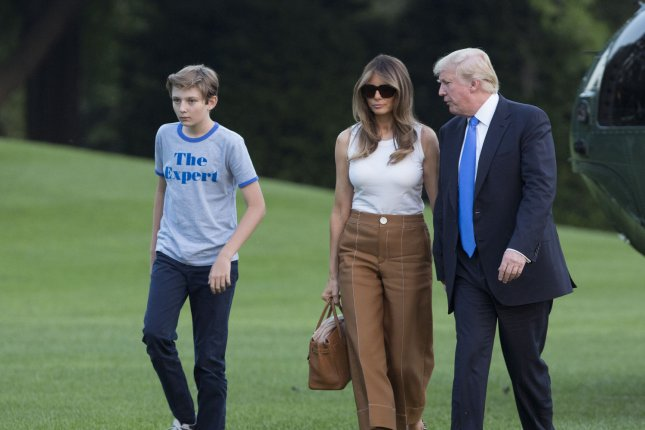 Barron & Melania Trump Arrive at White House for Moving Day