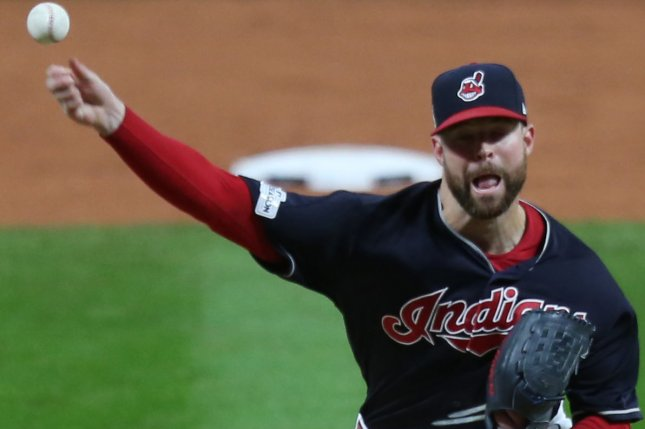 Cleveland Indians starting pitcher Corey Kluber. File photo by Aaron Josefczyk/UPI