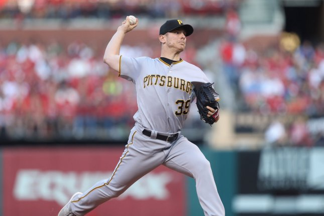 Chad Kuhl and the Pittsburgh Pirates take on the Chicago Cubs on Friday. Photo by Bill Greenblatt/UPI