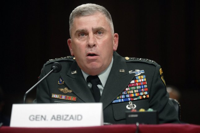 Retired Army Gen. John Abizaid was nominated by the White House as the U.S. ambassador to Saudi Arabia, a post that's been empty for almost two years. File Photo by Kevin Dietsc/UPI